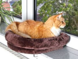 Cuccia per gatto termica per davanzale